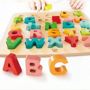 Puzzle alfabeto madera hape